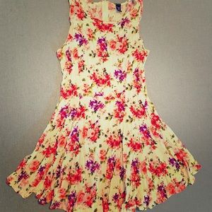 Windsor Floral Skater Dress Medium